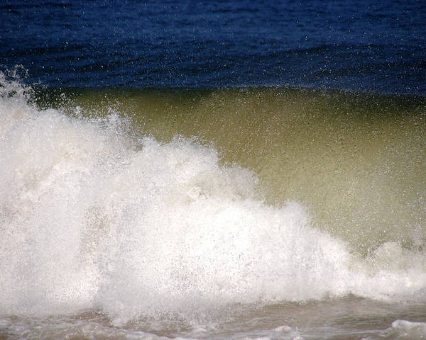 Waves Poster featuring the photograph Big Waves by Susanne Van Hulst
