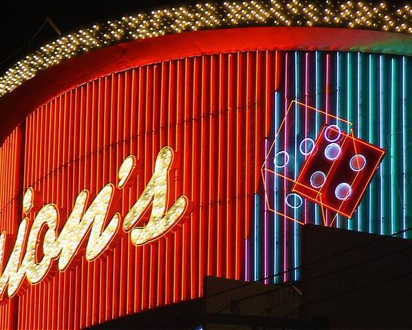 Binion's Poster featuring the photograph Binions Casino by Bill Buth