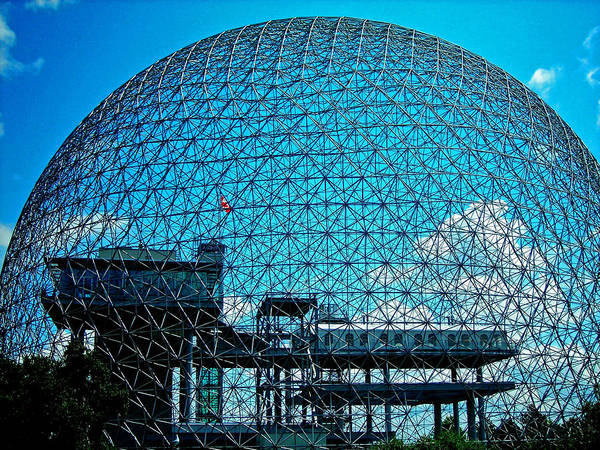 North America Poster featuring the photograph Biosphere Montreal by Juergen Weiss
