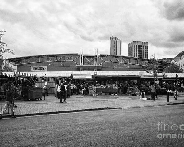 Birmingham Poster featuring the photograph Birmingham Outdoor Market And Rag Market Uk by Joe Fox