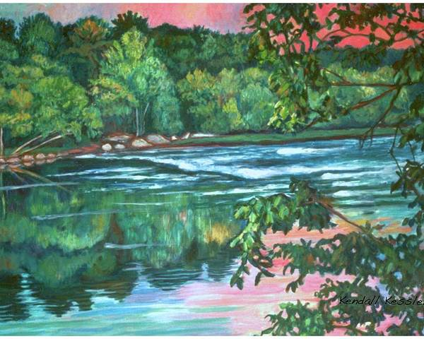 River Poster featuring the painting Bisset Park Rapids by Kendall Kessler