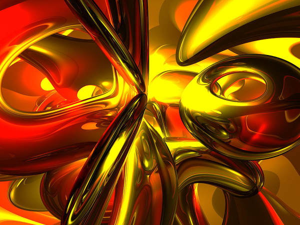 3d Poster featuring the digital art Bittersweet Abstract by Alexander Butler