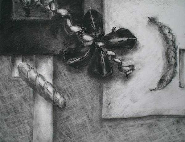 Still Life Poster featuring the drawing Black And White Composition IIi by Aleksandra Buha