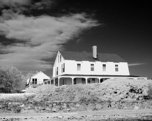 House Poster featuring the photograph Black And White Image Of A House In New England In Infrared by David Thompson