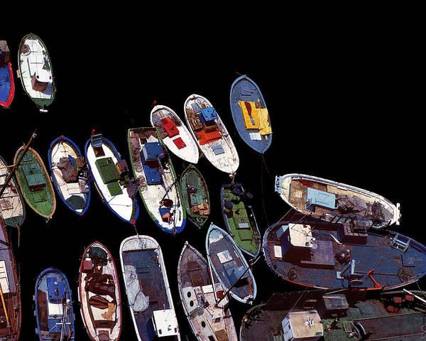 Boats Poster featuring the photograph Black Harbor by Joe Bonita
