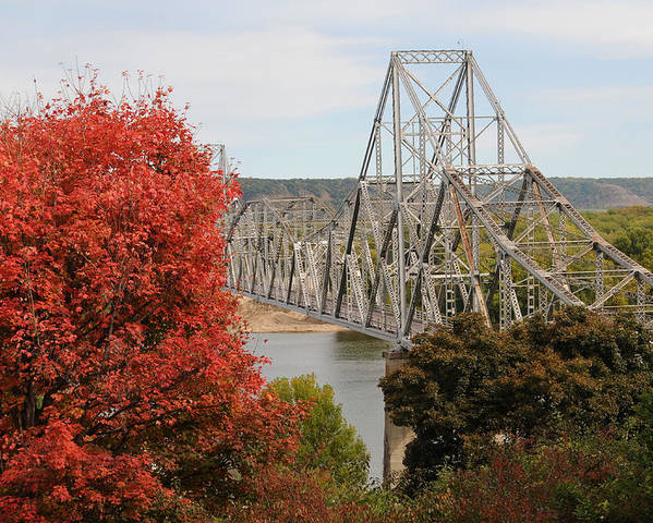 Bridge Poster featuring the photograph Black Hawk Bridge by Betsy Stahl