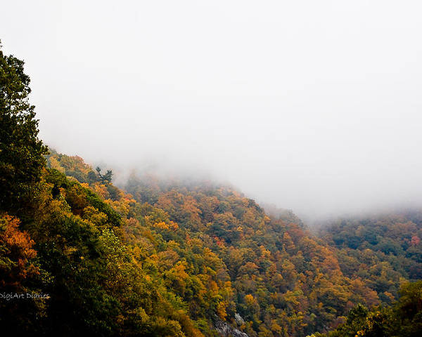 Mountains Poster featuring the photograph Blanket Of Clouds by DigiArt Diaries by Vicky B Fuller