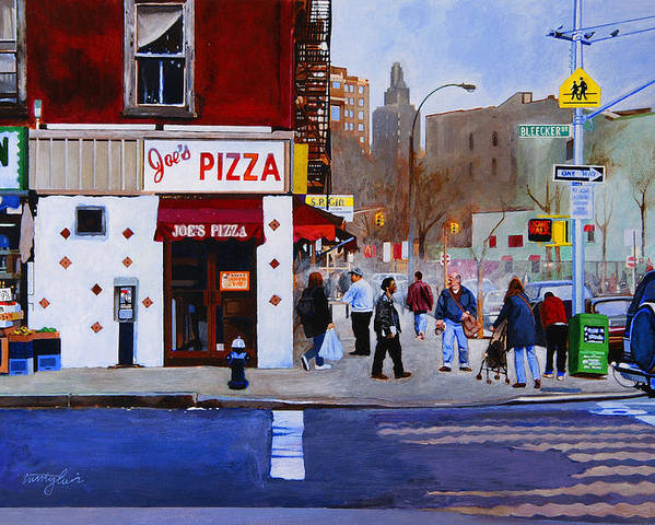 Bleecker Street Poster featuring the painting Bleecker Street by John Tartaglione