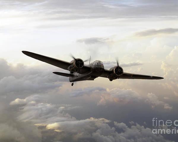 Bristol Poster featuring the digital art Blenheim Flight by J Biggadike
