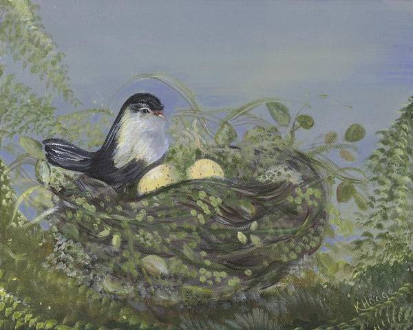 Birds Poster featuring the painting Blessed Nest by Kimberly Hodge