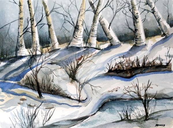 Winter Poster featuring the painting Blessedness by Mindy Newman