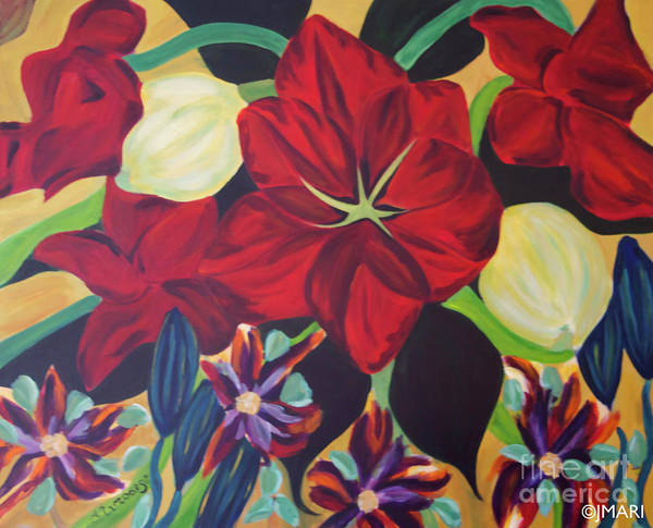 #flower Poster featuring the painting Bloom by Jacquelinemari