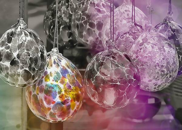 Ornament Poster featuring the photograph Blown Glass Ornaments by JAMART Photography