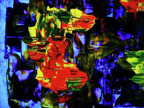 Abstract Poster featuring the painting Blow....wind...detail by Adolfo hector Penas alvarado
