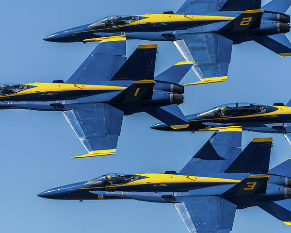 Blue Angels Poster featuring the photograph Blue Angels by Abraham Schoenig