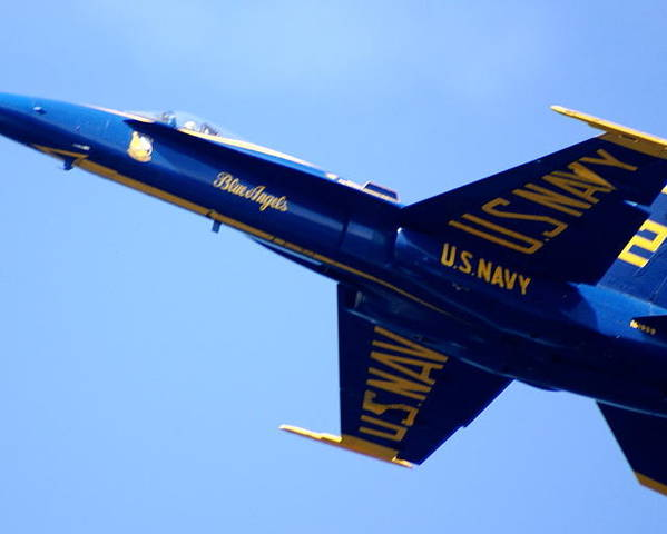 Aircraft Poster featuring the photograph Blue Angels by Sonja Anderson