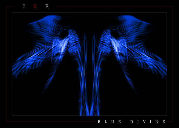 Blue Poster featuring the photograph Blue Divine by Jonathan Ellis Keys