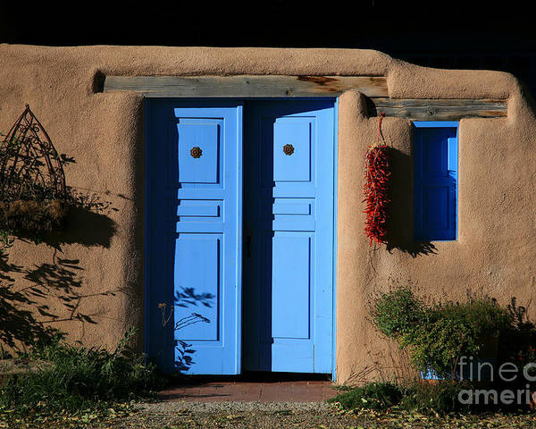 Doors Poster featuring the photograph Blue Doors by Timothy Johnson