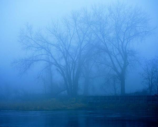 Fog Poster featuring the photograph Blue Fog by Alvin Sangma