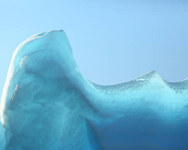 Ice Poster featuring the photograph Blue Ice by Bruce J Robinson