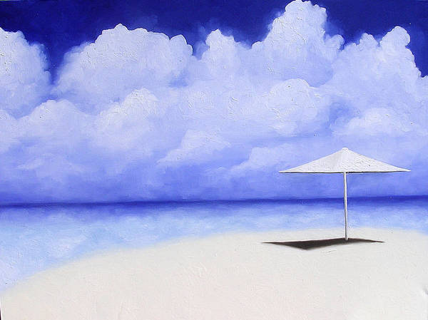 Seascape Poster featuring the painting Blue Isolation by Trisha Lambi