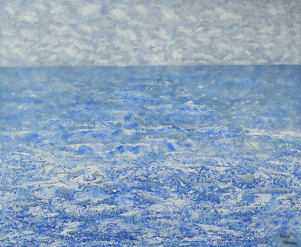 Seascape Poster featuring the painting Blue Majesty by Thierry Vobmann