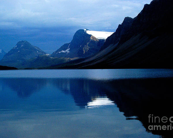 Bow Lake Poster featuring the photograph Blue by Marc Bittan