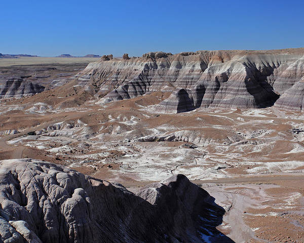 Landscape Poster featuring the photograph Blue Mesa by Gary Kaylor