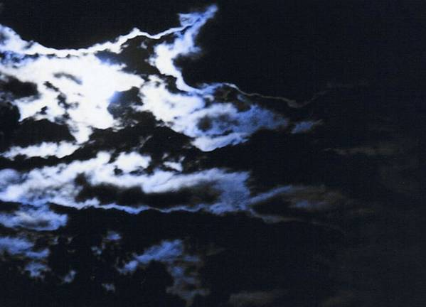 Cloudscape Poster featuring the photograph Blue Moon by Curtis Schauer