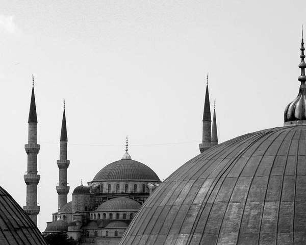Horizontal Poster featuring the photograph Blue Mosque, Istanbul by Dave Lansley