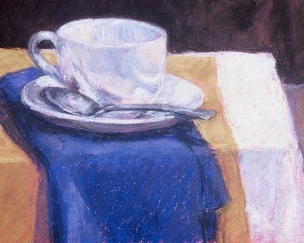 Still Life Painting Poster featuring the painting Blue Napkin by Dolores Holt