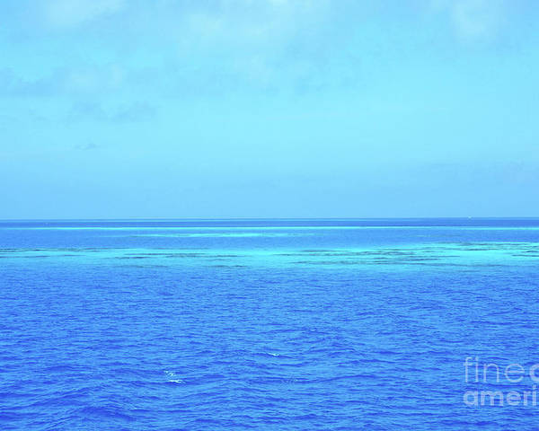Blue Poster featuring the photograph Blue Ocean by Jorge Erick Ramos