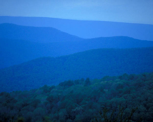 Mountains Poster featuring the photograph Blue Ridge Mountains by Carl Purcell