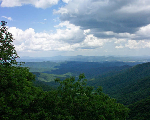 Blue Ridge Parkway Poster featuring the photograph Blue Ridge by Patricia Motley