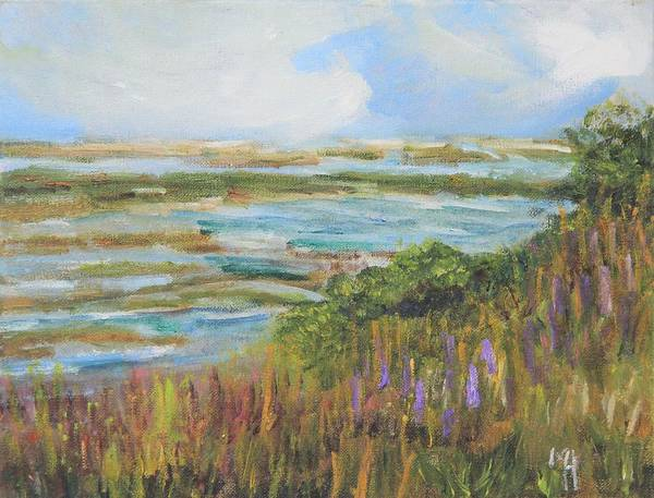 Cape Cod Poster featuring the painting Blue Sky Over Fort Hill by Michael Helfen