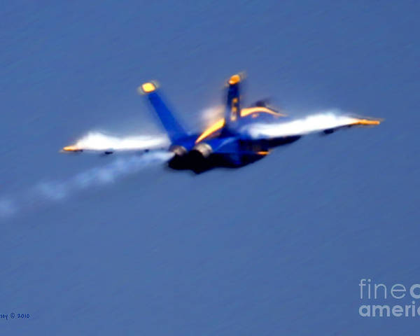 Blue Angles Poster featuring the photograph Blue Solo by Larry Keahey