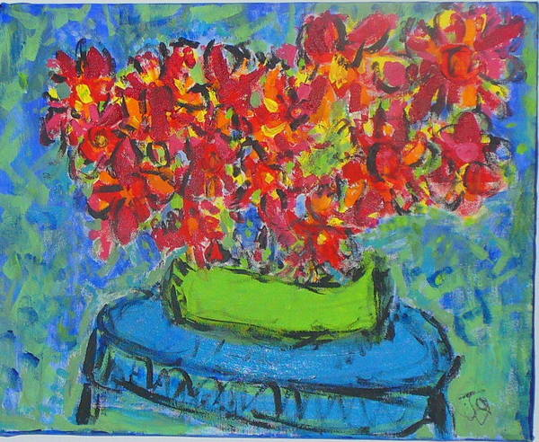Still Life Poster featuring the painting Blue Still by Joyce Goldin