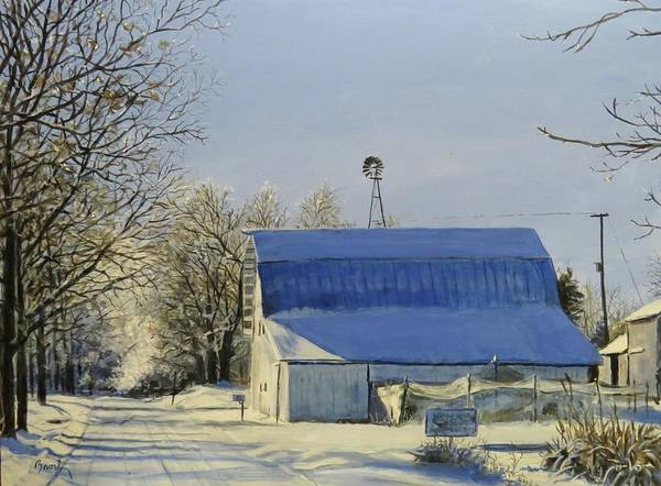 Landscape Poster featuring the painting Blue Sunday by William Brody