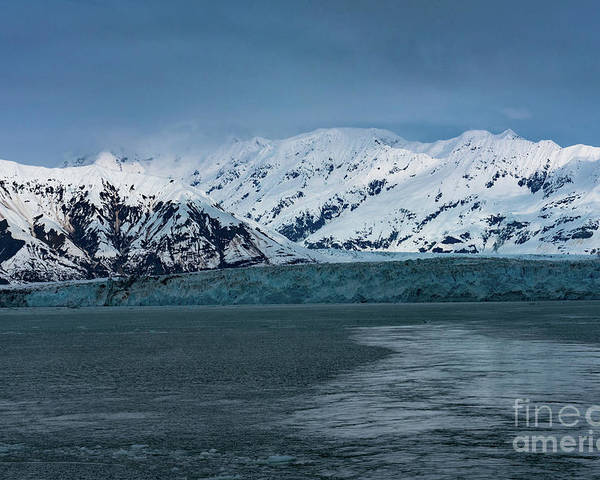 Glacier Poster featuring the photograph Blue Tidewater Glacier by Joe Benning