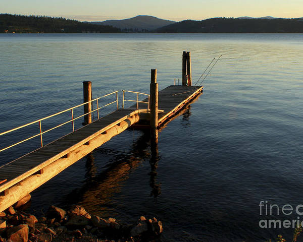 Tranquility Poster featuring the photograph Blue Tranquility by Idaho Scenic Images Linda Lantzy