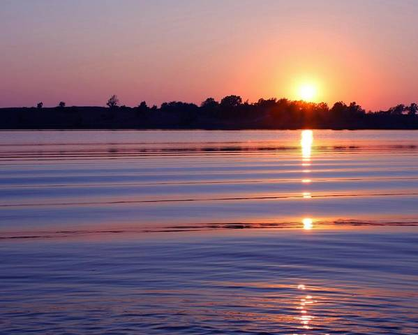 Sunset Poster featuring the photograph Blue Water Sunset by Jim Darnall