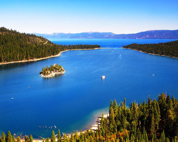 Lake Tahoe Poster featuring the photograph Blue Waters by Camille Lopez