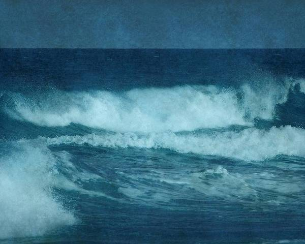 Blue Waves Poster featuring the photograph Blue Waves - Jersey Shore by Angie Tirado