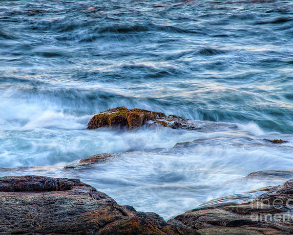 Acadia National Park Poster featuring the photograph Blue Waves by Susan Cole Kelly