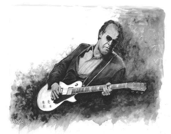 Musician Poster featuring the digital art Blues Man Joe B. by William Walts
