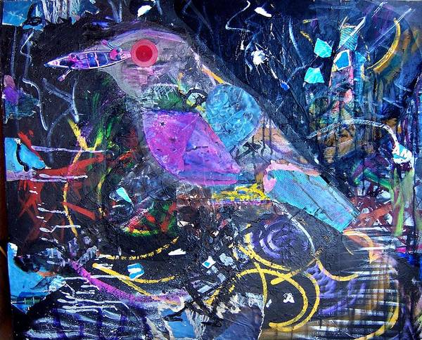 Bird Poster featuring the mixed media Boat Bill by Dave Kwinter