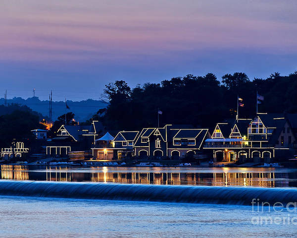 Americana Poster featuring the photograph Boat House Row by John Greim