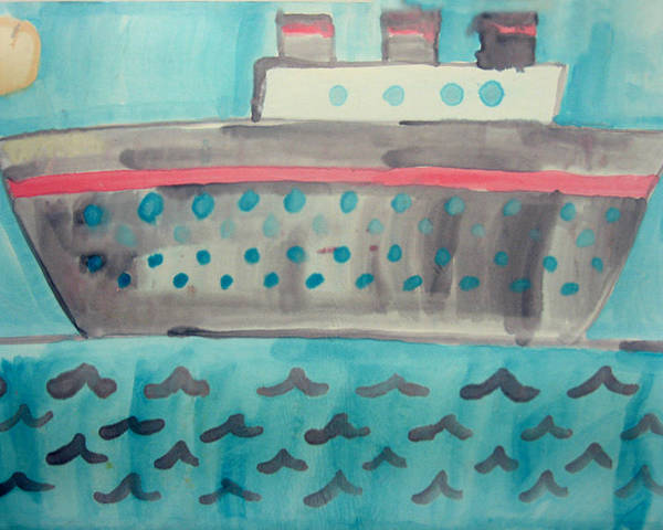 Boat Poster featuring the painting Boat by Sean Cusack
