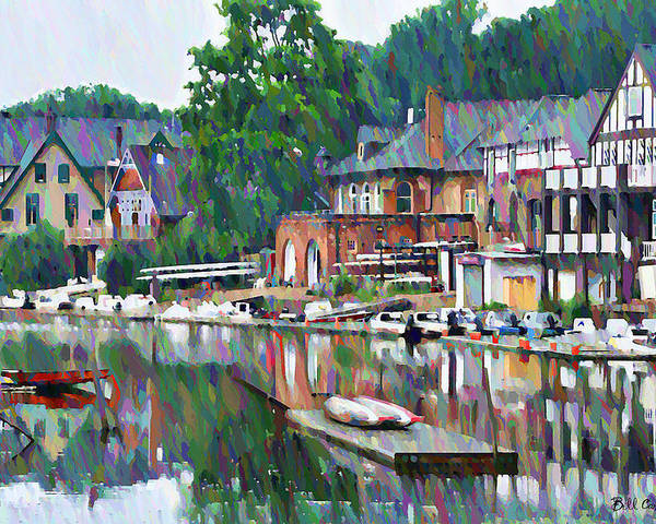 Boathouse Poster featuring the photograph Boathouse Row In Philadelphia by Bill Cannon
