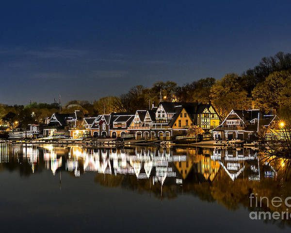 Boathouse Row Poster featuring the photograph Boathouse Row by John Greim